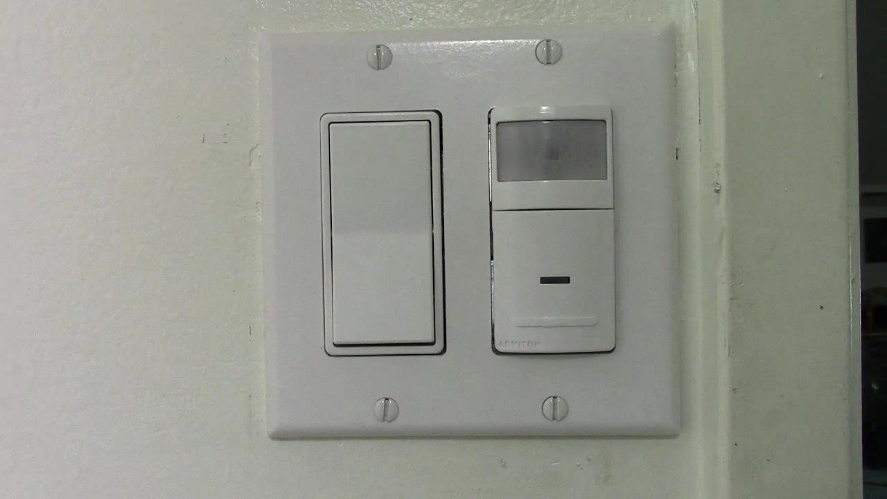 How to Install a Leviton IPS02 Occupancy Sensor Switch as Part of a Double Switch