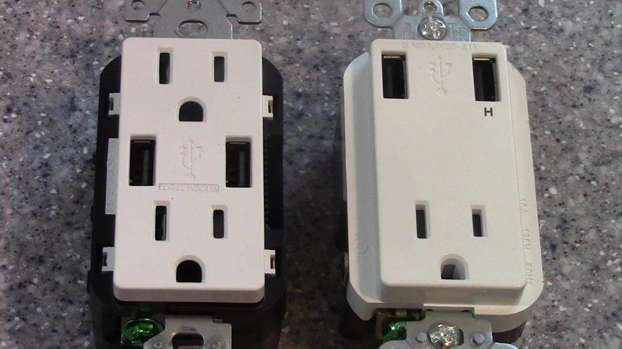 USB Charging Receptacles Comparison Leviton vs Leviton
