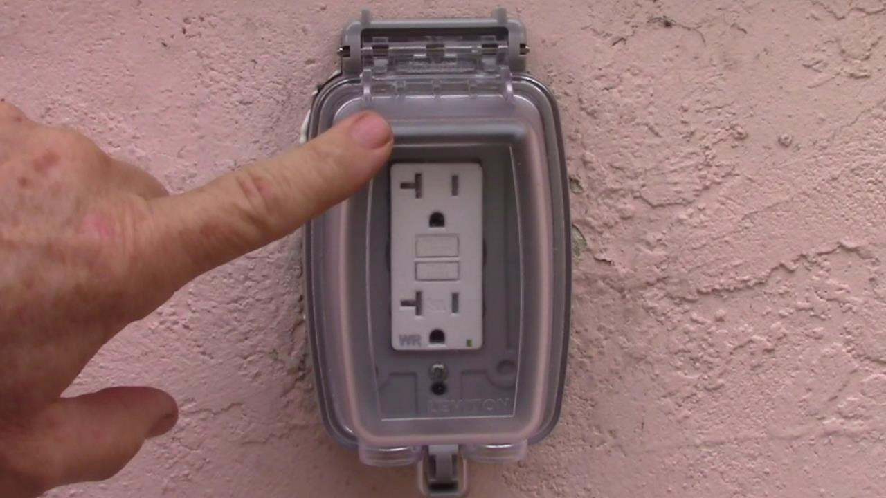 Exterior GFCI Receptacle Upgrade to Weather Resistant and Extra Duty Cover