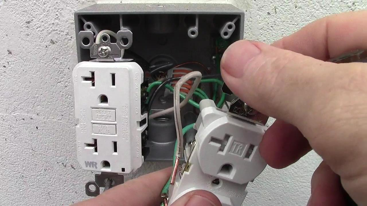 How to Wire a Double Receptacle with 20 Amp GFCI Weather Resistant Outlets & Cover