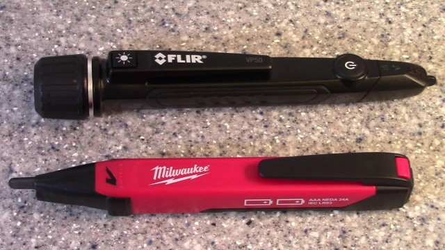 Flir VP50 vs. Milwaukee 2202-20 Flashlight Voltage Detector Comparisons
