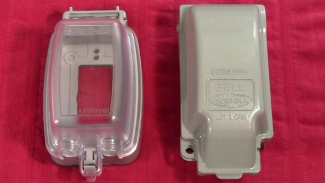 Leviton vs Hubbell Extra Duty While in Use GFCI Outlet Cover Comparisons