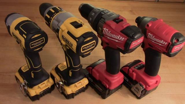 Milwaukee FUEL vs DeWalt Premium Brushless Hammerdrill and Impact Set Comparisons