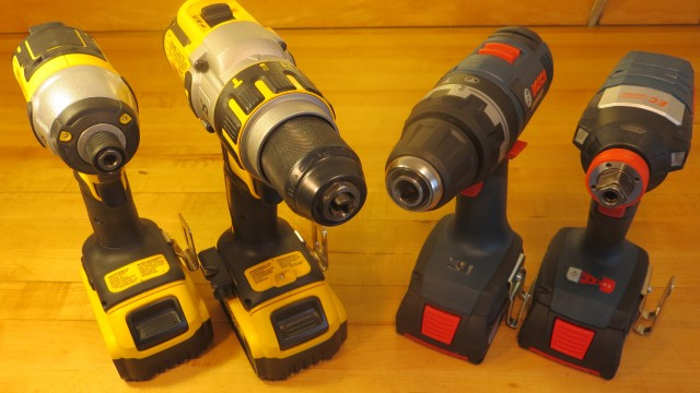DeWalt vs Bosch Hammerdrill and Impact Driver Combo Set Comparison