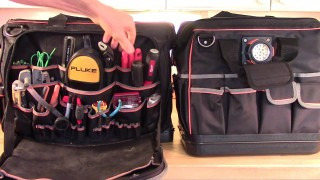 Klein Pro Ultimate vs Klein Pro Lighted Tool Bags Comparison