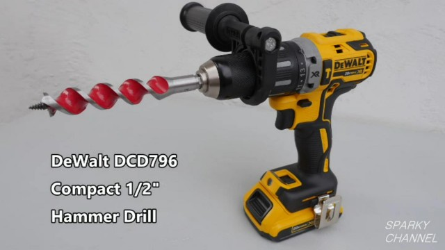 DeWalt DCD796 New Compact Hammer Drill Review and Demonstration
