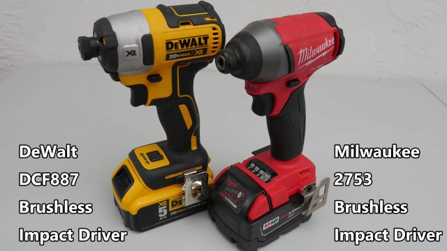 DeWalt DCF887 vs Milwaukee 2753 Brushless Impact Driver Comparison Face-Off