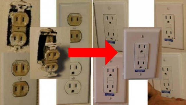 How To Convert a Circuit of 2 Prong Receptacles To GFCI Receptacles per NEC Code