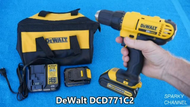 DEWALT DCD771C2 20V MAX Lithium-Ion Compact Drill/Driver Kit Review and Demonstration