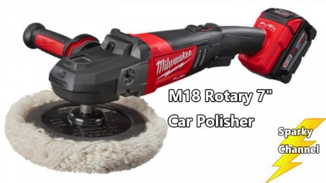 Milwaukee M18 Fuel 7″ Rotary Car Polisher