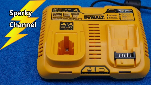 DEWALT DCB103 New Combination Dual Port Fast Charger