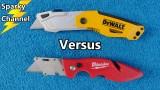 DeWalt vs Milwaukee Folding Razor Knives Comparison and Face-Off