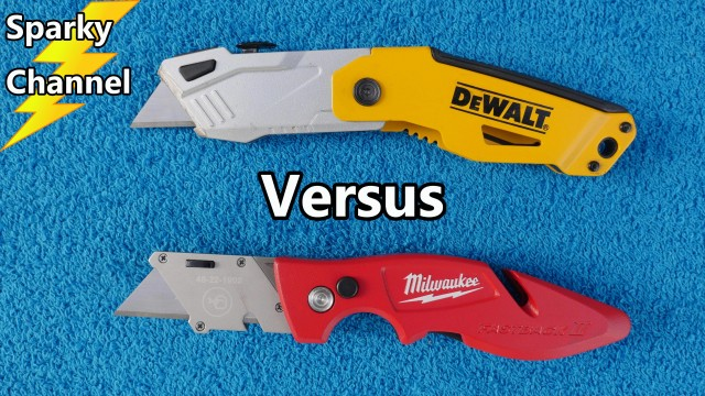 DeWalt vs Milwaukee Folding Razor Knives Comparison and Face-Off