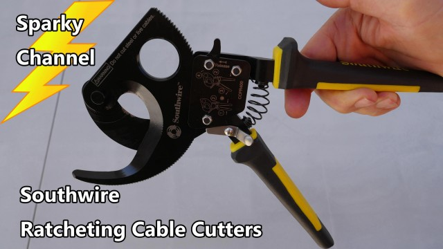 Southwire Ratcheting Cable Cutter Review and Demonstration