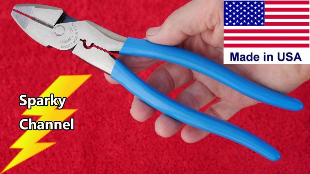 Channellock 369CRFT Linemen's Pliers Review and Demonstration