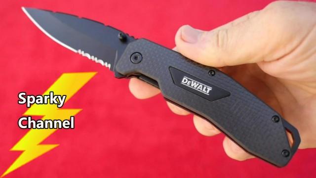 DeWalt New Carbon Fiber Folding Pocket Knife DWHT10314 Review