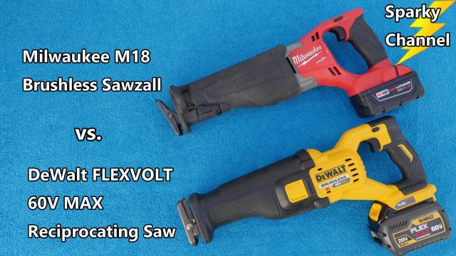 Milwaukee M18 Sawzall vs Dewalt 60V MAX Reciprocating Saw Faceoff
