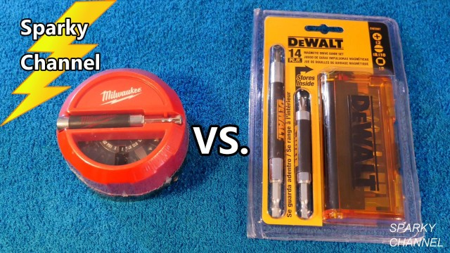 DeWalt vs Milwaukee Magnetic Drive Guide Kits