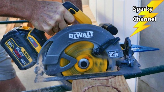 DeWalt 60V MAX Flexvolt Circular Saw Review and Demonstration