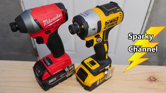 Dewalt DCF887 vs Milwaukee 2757 One-Key Impact Driver Face Off + Chuck Wobble Tests