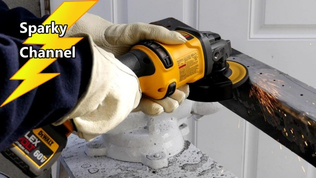 DeWalt 60V MAX Flexvolt Grinder DCG414T2 Review and Demonstration