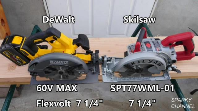 DeWalt 60V MAX Flexvolt vs Skilsaw Wormdrive Circular Saw MMA Showdown