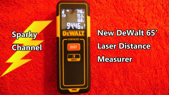 DeWalt New 65′ Laser Distance Measurer Review and Demonstration DW065E