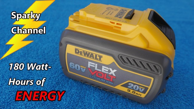 DeWalt New 60V Max Flexvolt 9.0 Ah Battery DCB609