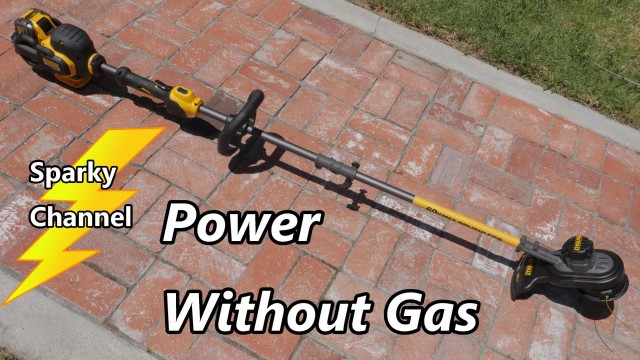 DeWalt 60V Max New String Trimmer Review and Demonstration DCST970X1