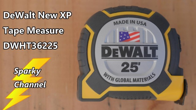DeWalt New Tape Measure XP Preview DWHT36225