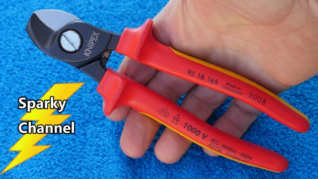 Knipex Insulated Cable Shears 95 18 165 US Review and Demonstration
