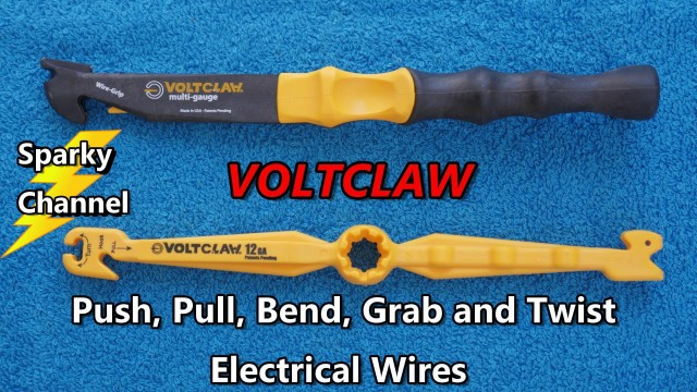 New Invention: Voltclaw Nonconductive Electrical Wire Pliers Review and Demonstration