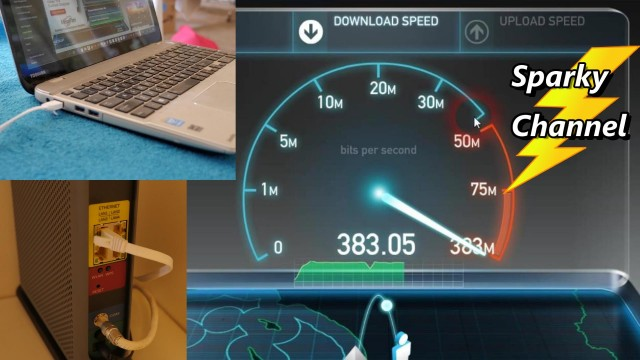 Cat 7 Ethernet Cable vs Wireless Speed Test with 300 Mbps Service