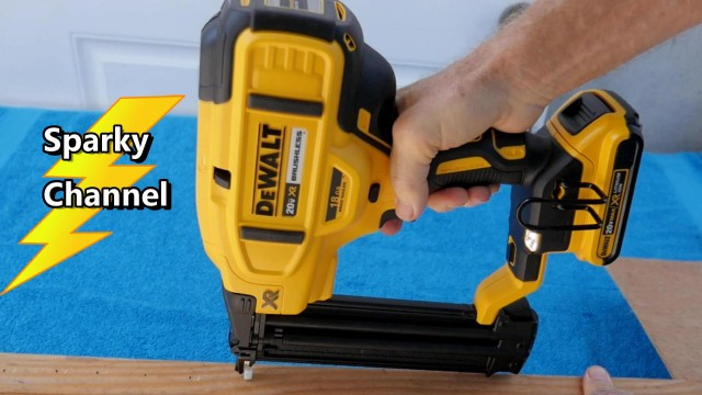 DeWalt New 20V Max 18 Gauge Brad Nailer DCN680 Review and Demonstration