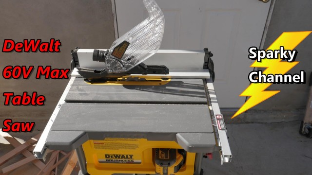 DeWalt 60V Max 8 1/4″ Table Saw DCS7485T1 Review and Demonstration