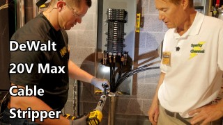 DeWalt 20V Max Cable Stripping Kit DCE151TD1 from Nashville Media Event 2017