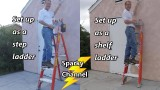 Louisville 6′ Fiberglass 2 in 1 Cross-Step Ladder FXS1506 300 lbs Duty Rated Review