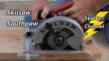 """Skilsaw Listened to Us! New """"Southpaw"""" Sidewinder Left Side Blade Review and Demo SPT67M8-01"""