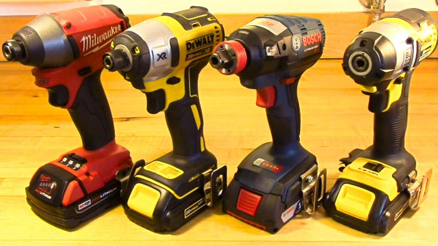 Impact Bit Removal With One Hand: Milwaukee FUEL, DeWalt and Bosch