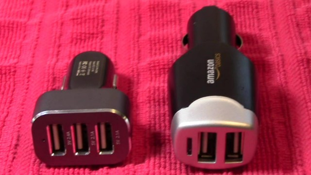 Omaker vs Amazon Basics USB Car Charger Comparisons