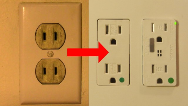 Replace a 2 Prong Outlet With Double Duplex Grounded Receptacles