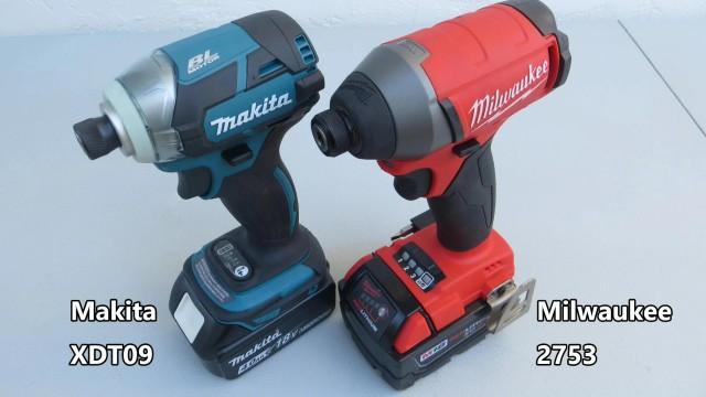Milwaukee 2753 vs Makita XDT09 Impact Driver Comparison and Demonstration