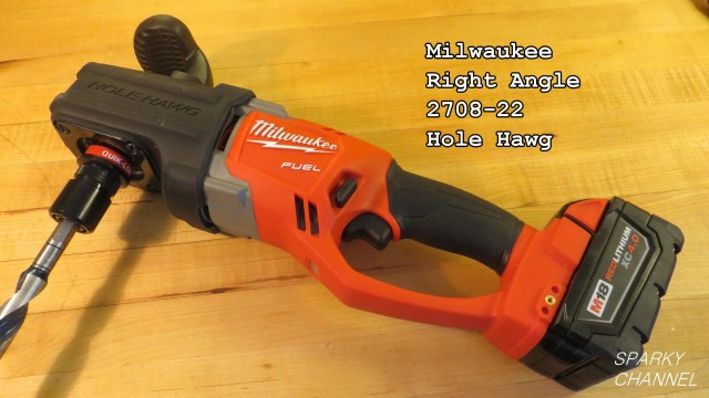 Milwaukee Brushless and Cordless Right Angle Hole Hawg Review