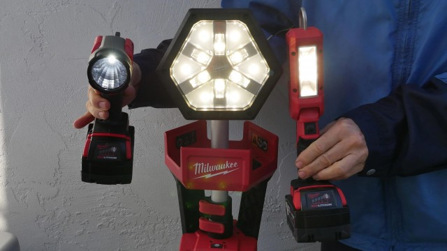 Milwaukee M18 LED Lights Review and Demonstrations