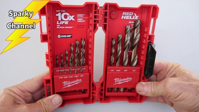 Milwaukee Cobalt Drill Bit Set 48-89-2331 Review and Demonstration
