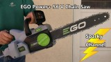 EGO Power+ 56 Volt Brushless 14″ Chain Saw Review and Demonstration