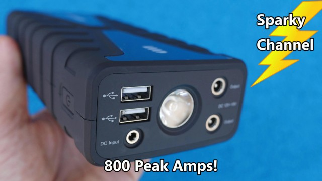Eveco Car and Truck Jump Starter with 800 Peak Amps Review and Demonstration