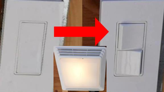 The Easy Way To Put Your Bath Fan's Light and Fan on Separate Switches (With Some Luck)