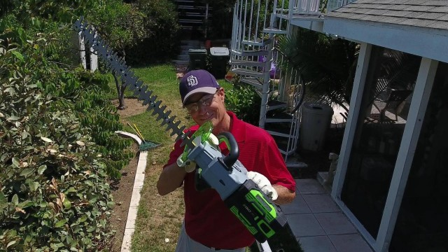 Ego Power+ 56 Volt Hedge Trimmer Review and Demonstration