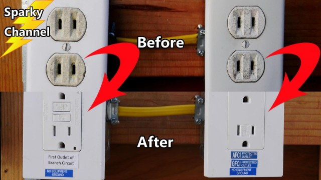 Replace a Circuit of 2 Prong Receptacles With AFCI GFCI Protected 3 Prong Outlets
